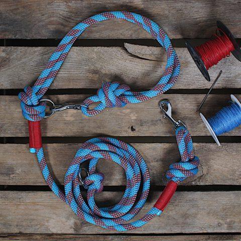 kletterseil-hundeleine-blau-gestreift-rot