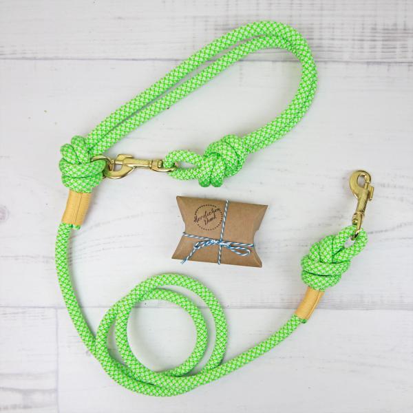 Hundeleine Kletterseil grün / gelb