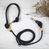 Hundeleine Kletterseil schwarz gelb