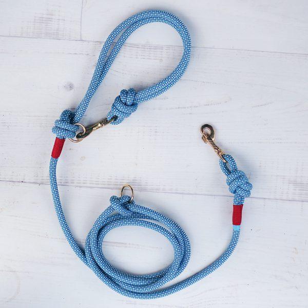 hundeleine-kletterseil-kariert-blau-weiss-premium