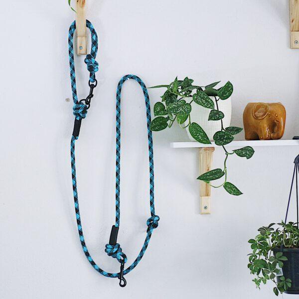kletterseil-hundeleine-blau-schwarz