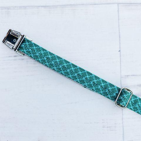 kletterseil-halsband-gruen-petrol-detail