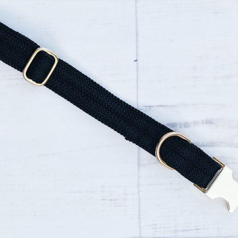 kletterseil-halsband-schwarz-messing