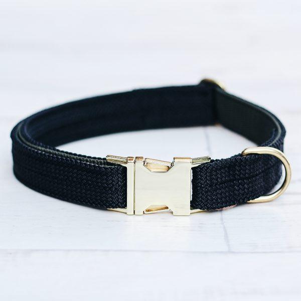 kletterseil-halsband-schwarz-messing-gold