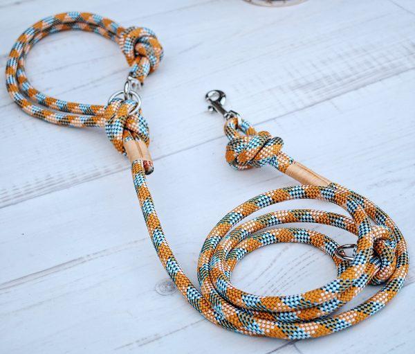 Hundeleine-kletterseil-orange-blau