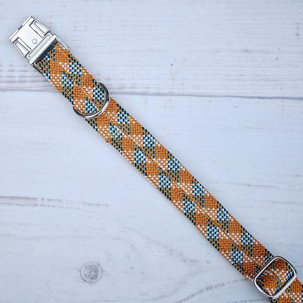 hunde-kletterseil-halsband-orange-blau