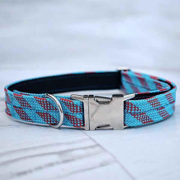 kletterseil-halsband-blau-rot-gestreift-ikarusdoodle