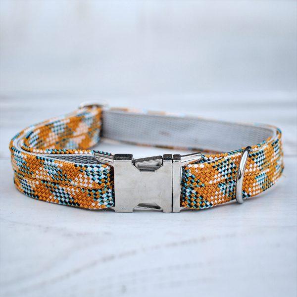 kletterseil-halsband-orange-blau-steckschnalle-ikarusdoodle