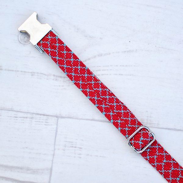 kletterseil-halsband-rot