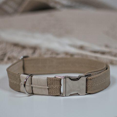boho hundehalsband halsband hund-tau-beige-bege-beege-scandi